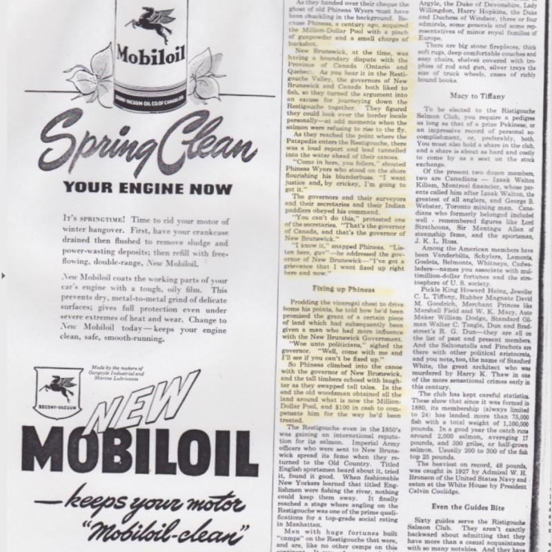 L'histoire du Million-Dollar Pool dans le magazine Maclean's